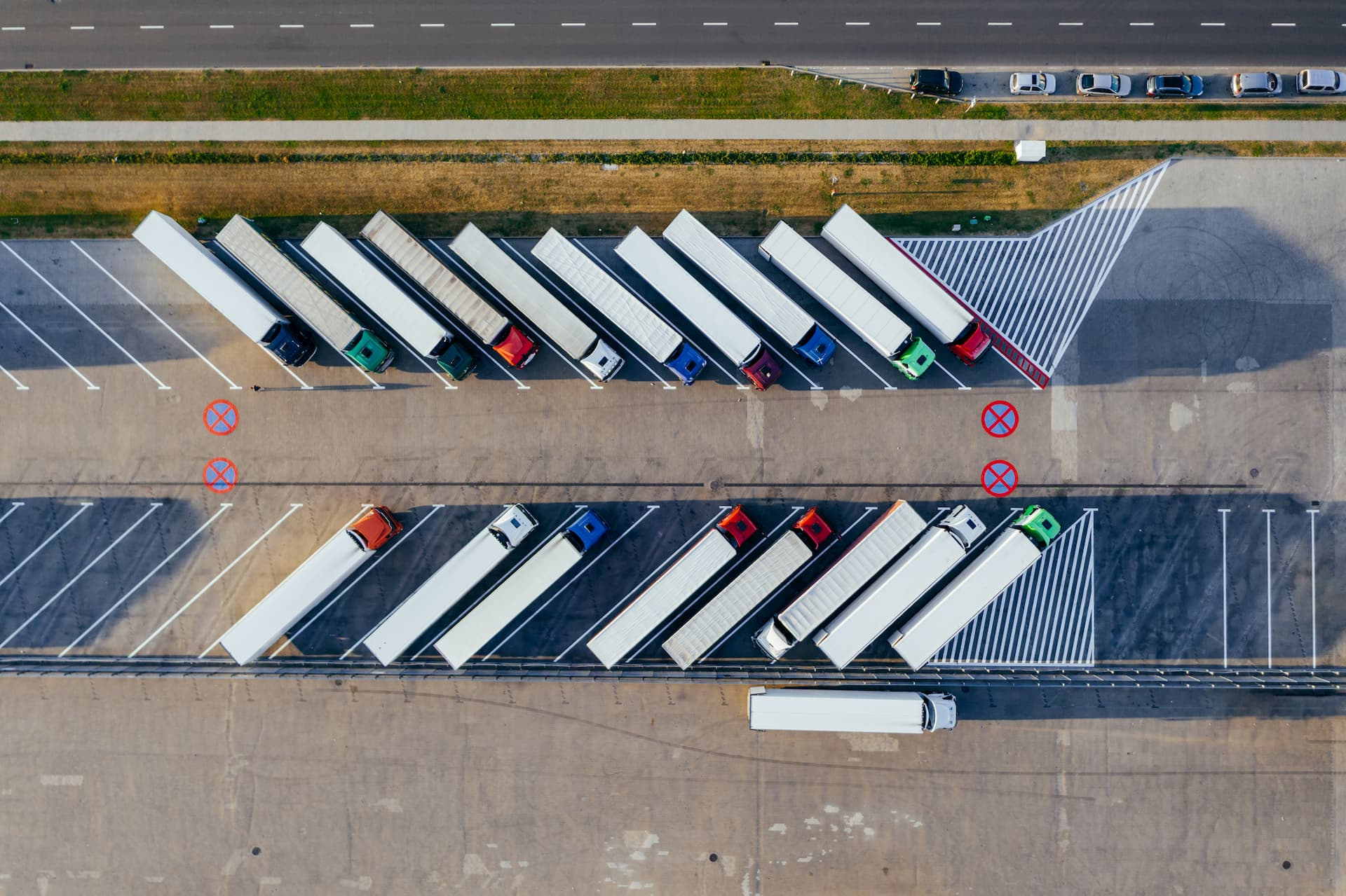 Canva - Aerial Photography Of Trucks Parked (1)