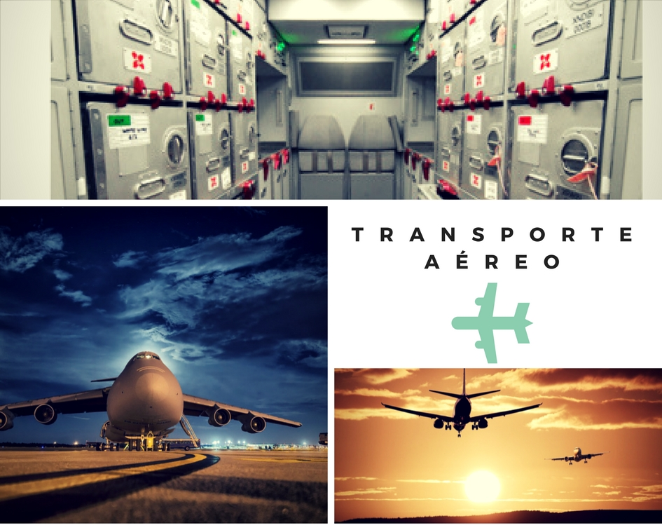 Transporte aéreo trolleys cabinas