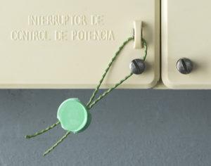 Precintos tipo botón con alambre