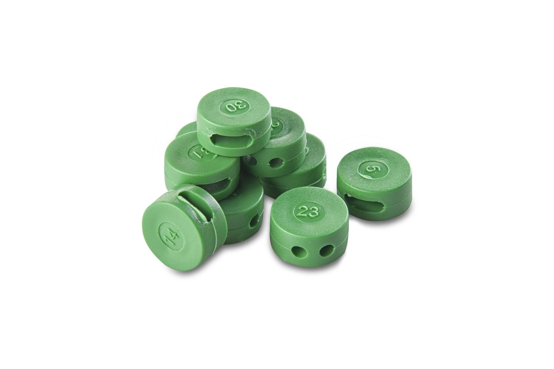 Precinto Button Seal para contadores de luz, agua y gas.