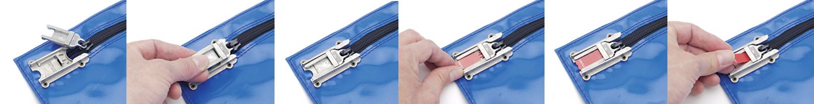 blue flat bag