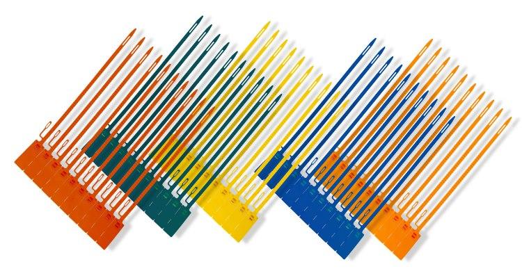 Diferentes colores para crear imagen de marca con los precintos de seguridad.
