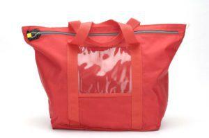 Bolsa de seguridad trapezoidal roja