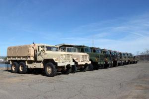 Sicherheitssiegel beim Transport von Munition und Artillerie
